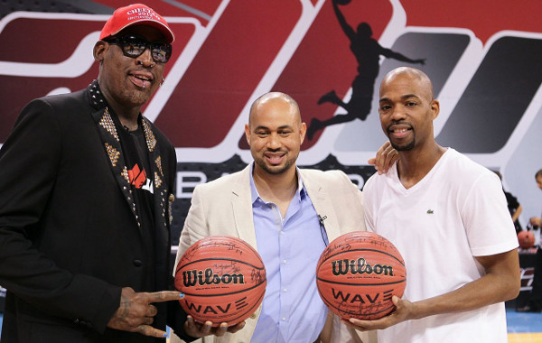 Dennis Rodman, Ball Up CEO Demetrius Spencer and Rafer Alston - Ball Up