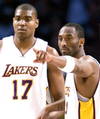 Kobe Bryant and Andrew Bynum - Jeff Lewis/Icon SMI