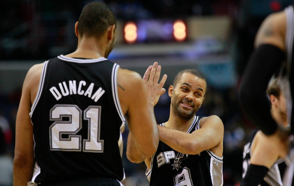 Tim Duncan and Tony Parker - USA Today Sports Images
