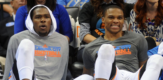 Kevin Durant and Russell Westbrook - US Presswire