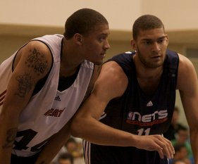Michael Beasley and Brook Lopez