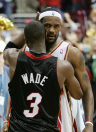 LeBron James and Dwyane Wade - Icon Sports Media